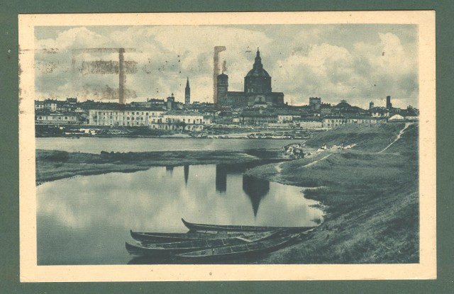 Lombardia. PAVIA. Veduta del Ticino. Cartolina d'epoca viaggiata nel 1934.