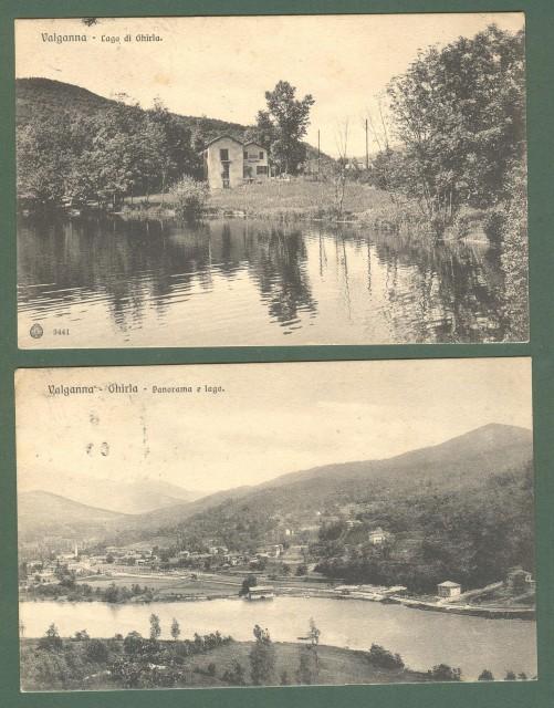 Lombardia. VALGANNA, GHIRLA. Como. Due cartoline d'epoca viaggiate nel 1908