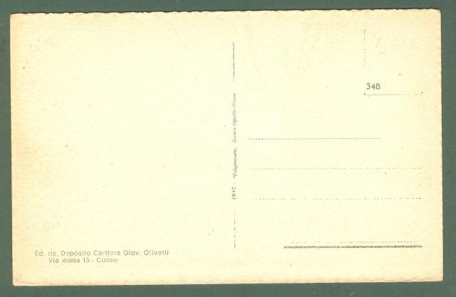 Piemonte. MONASTERO, Cuneo. Panorama. Cartolina d'epoca non viaggiata, circa 1930