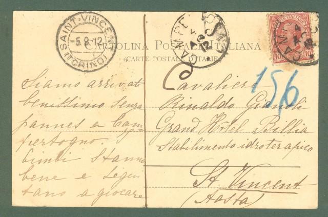 Piemonte. CAMPERLONGO, Valsesia, Vercelli. Cartolina d'epoca viaggiata nel 1912