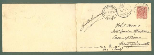 Trentino. CAVALESE, Trento. Cartolina d'epoca doppia, viaggiata nel 1925