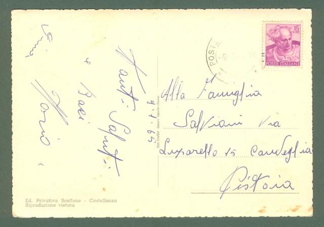 Lombardia. CASTELLANZA, Varese. Saluti da. Cartolina d'epoca viaggiata nel 1965.