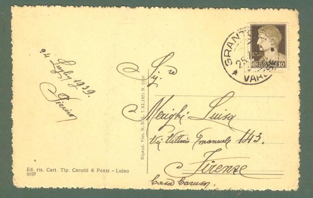 Lombardia. MESENZANA, Varese. Cartolina d'epoca viaggiata nel 1939