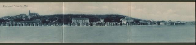 Abruzzo. FRANCAVILLA AL MARE, (Chieti). Panorama. Cartolina d'epoca tripla viaggiata nel 1916.