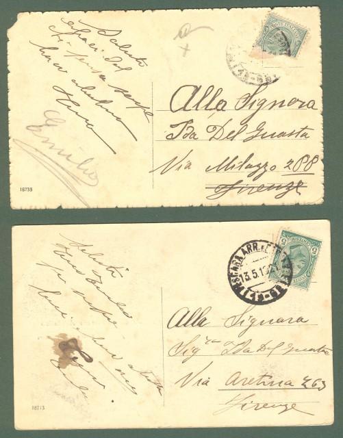 Abruzzo. PESCARA. Due cartoline d'epoca viaggiate nel 1916