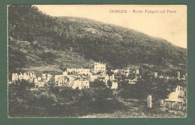 Friuli. MONTE PODGORA COL PAESE, Gorizia. Panorama.