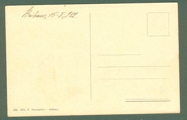 Veneto. CASTELLO DI PADERNO presso Sospirolo. Belluno. Cartolina d'epoca viaggiata in busta nel 1912.