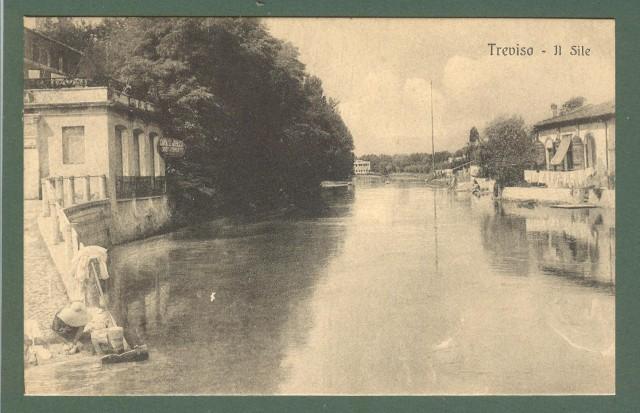 Veneto. TREVISO. Il Sile. Cartolina d'epoca non viaggiata, circa 1920.