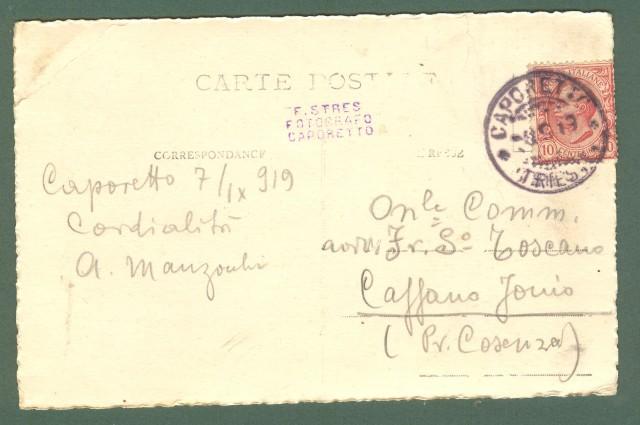 Friuli. MONTE NERO. Cartolina d'epoca fotografica, viaggiata nel 1919