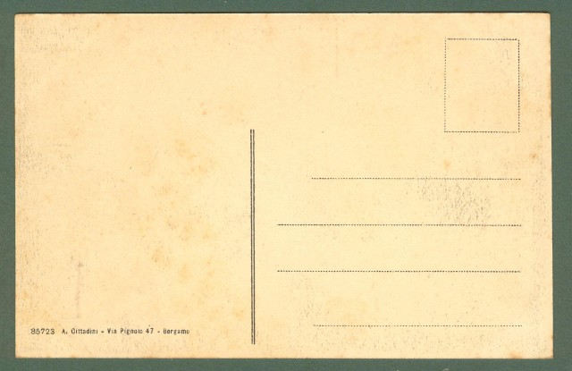 Lombardia. BERGAMO. Mura S. Grata. cartolina d'epoca non viaggiata, circa 1920.