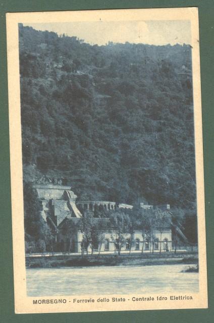 Lombardia. MORBEGNO, Sondrio. Centrale Idro Elettrica. Cartolina d'epoca viaggiata nel 1921.
