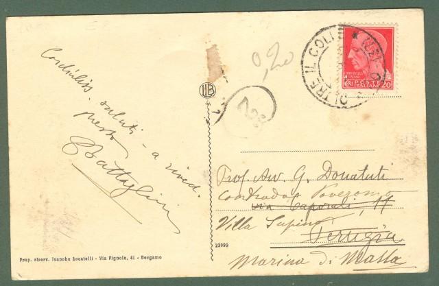 Lombardia. OLTRE IL COLLE, Bergamo. Panorama. Cartolina d'epoca viaggiata anni 1930