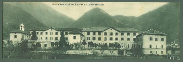 Lombardia. ALBINO, Bergamo. Scuola Apostolica del S. Cuore. Cartolina d'epoca non viaggiata, anni 1930
