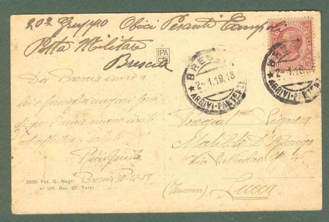 Lombardia, BRESCIA. Porto Trento. Cartolina d'epoca viaggiata nel 1919