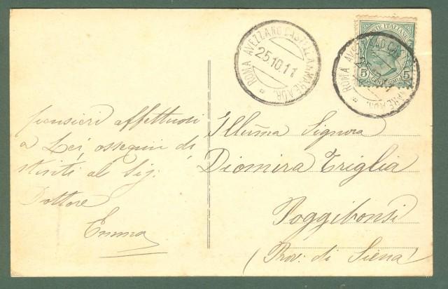 Abruzzo. TORRE DE' PASSERI, Pescara. Panorama. Cartolina d'epoca viaggiata nel 1911.