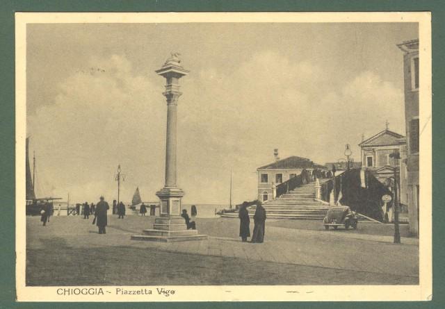 Veneto. CHIOGGIA, Venezia. Piazzetta Vigo. Cartolina d'epoca viaggiata nel 1949.