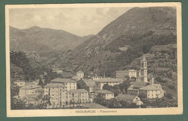 Liguria. ISOVERDE, Genova. Panorama. Cartolina d'epoca viaggiata anni 1930.
