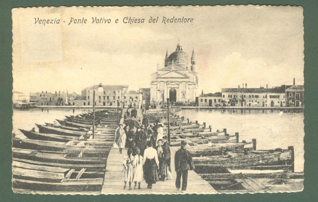 Veneto. VENEZIA. Ponte Votivo. Cartolina d'epoca non viaggiata, circa 1920