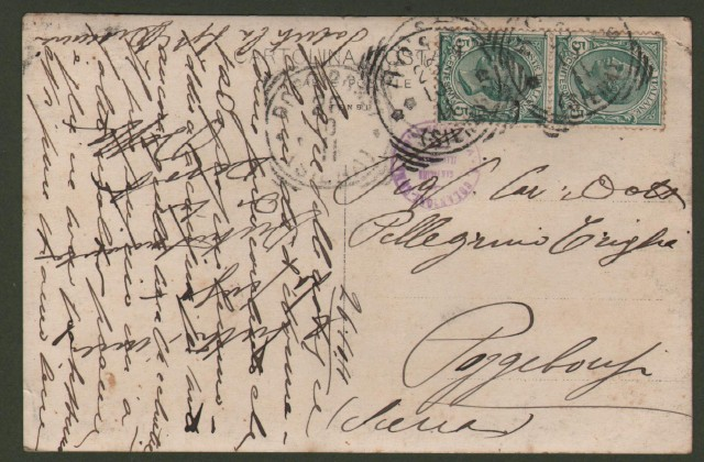 Campania. NAPOLI, S. Lucia. Cartolina d'epoca fotografica viaggiata nel 1911