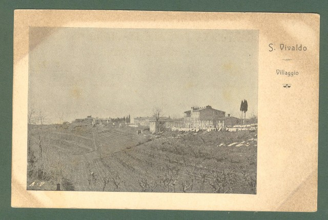 Toscana. MONTAIONE, Firenze. San Vivaldo. Cartolina d'epoca non viaggiata, primi 1900.