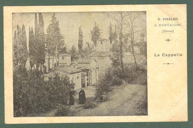Toscana. MONTAIONE, Firenze. San Vivaldo, Le cappelle. Cartolina d'epoca non viaggiata, primi 1900.
