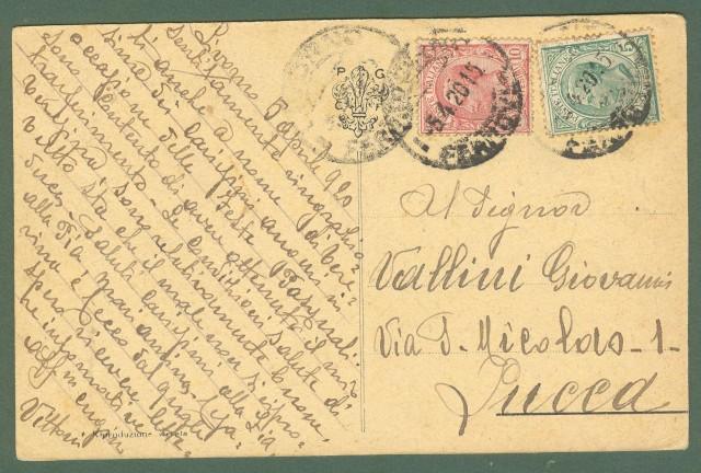 Toscana. GREVE IN CHIANTI, Firenze. Castello di Montefioralle. Cartolina d'epoca viaggiata nel 1920.
