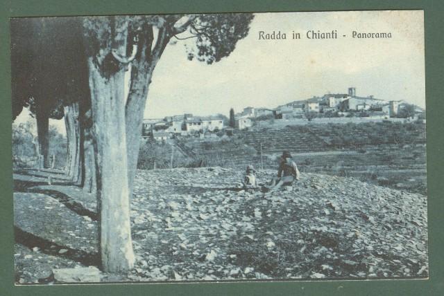 Toscana RADDA IN CHIATI, Siena. Panorama. Cartolina d'epoca non viaggiata, circa 1925.