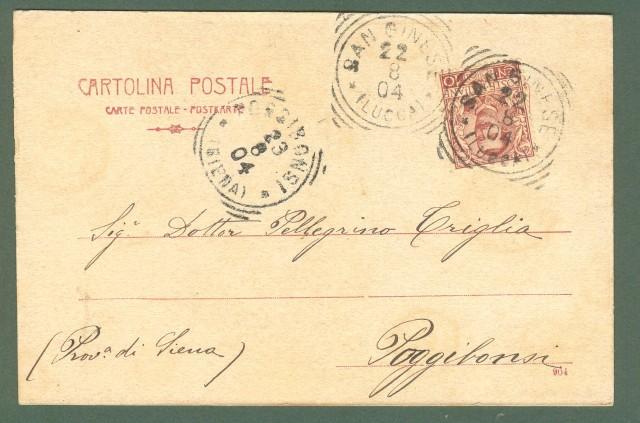 Toscana. ALTOPASCIO, Lucca. Piazza Cavour. Cartolina d'epoca viaggiata nel 1904