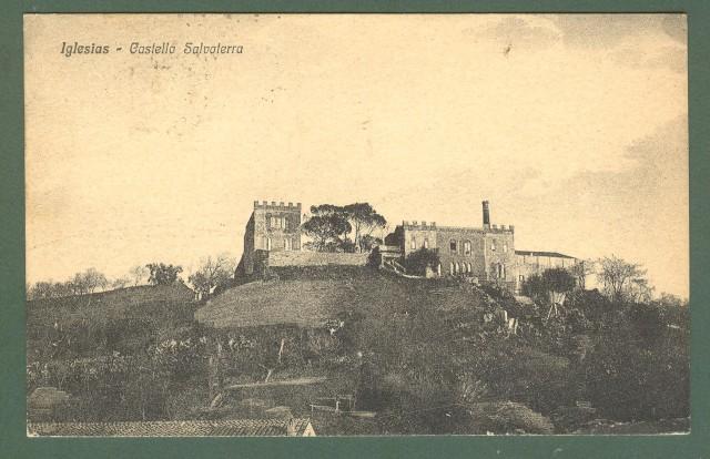 Sardegna. IGLESIAS. Castello Salvaterra. Cartolina d'epoca viaggiata nel 1927.