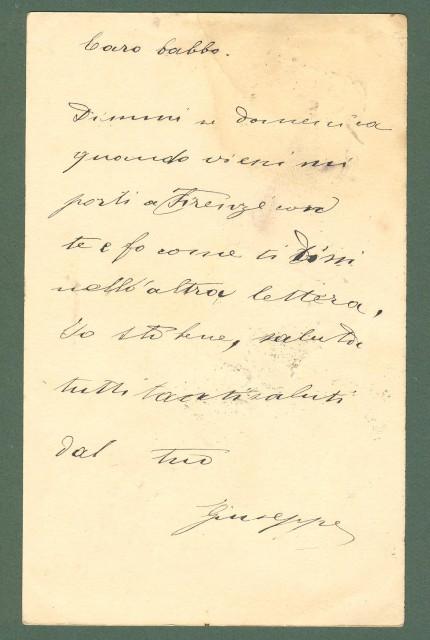 Toscana. PRATO. collegio Cicognini. Cartolina d'epoca viaggiata 1900.