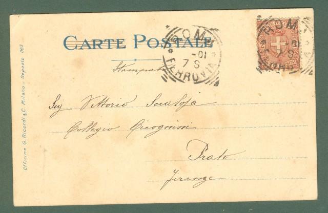 Illustratori. METLICOVITZ LEOPOLDO. Tosca, Puccini. cartolina viaggiata nel 1901