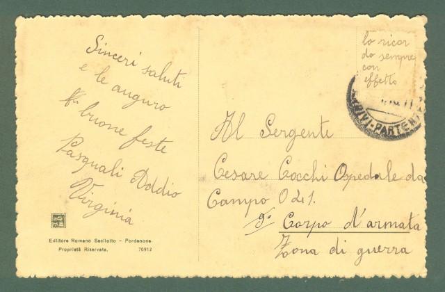 Veneto. BELLUNO, Via Rizzola. Cartolina d'epoca viaggiata nel 1918.
