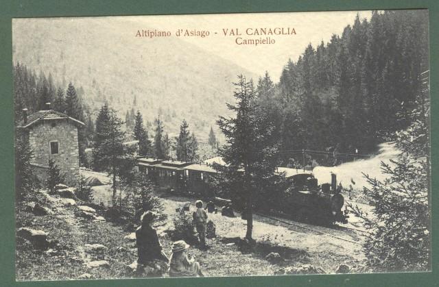 Veneto. CAMPIELLO, Val canaglia, Asiago. Cartolina d'epoca viaggiata, circa 1920.