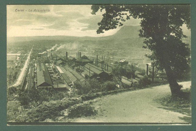 Umbria. TERNI. Le acciaierie. cartolina d'epoca viaggiata nel 1932.
