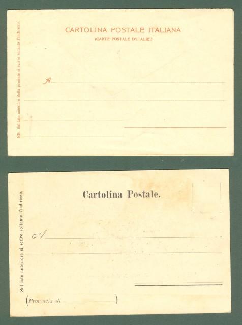 Emilia Romagna. REGGIO EMILIA. Due cartoline d'epoca, , viaggiate primi 1900.