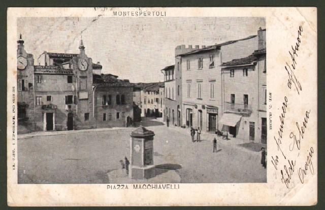 Toscana. MONTESPERTOLI (Firenze). Piazza Macchiavelli.