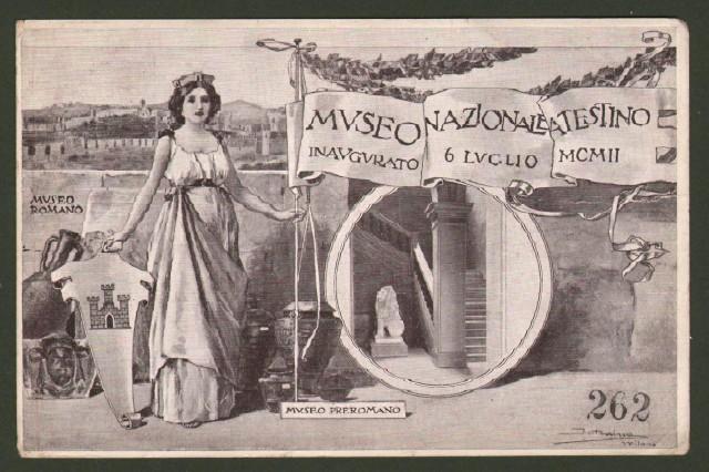 Veneto. ESTE, Padova. Museo Nazionale Atestino. Cartolina d'epoca non viaggiata, 1912.