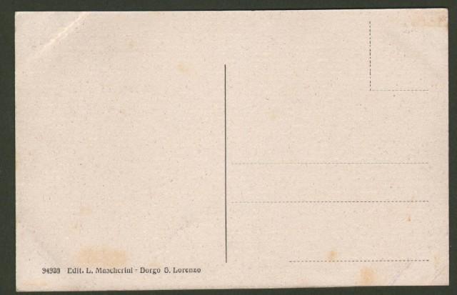 Toscana. SCARPERIA, Firenze. Via Montebello. Cartolina d'epoca non viaggiata, circa 1925.