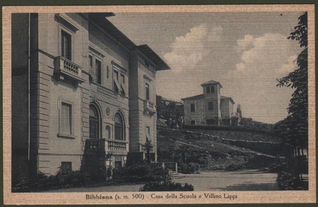 Toscana. BIBBIENA, Arezzo. Casa della Scuola e Villino Lippi.