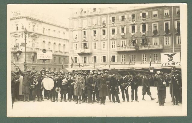 Friuli. TRIESTE. Cartolina fotografica. Adunata di Alpini a Trieste, circa 1930