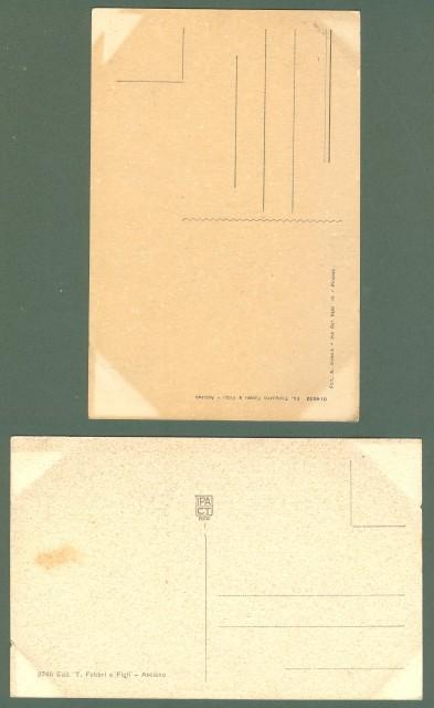 Toscana. ASCIANO, Siena. Due cartoline d'epoca non viaggiate, circa 1925.