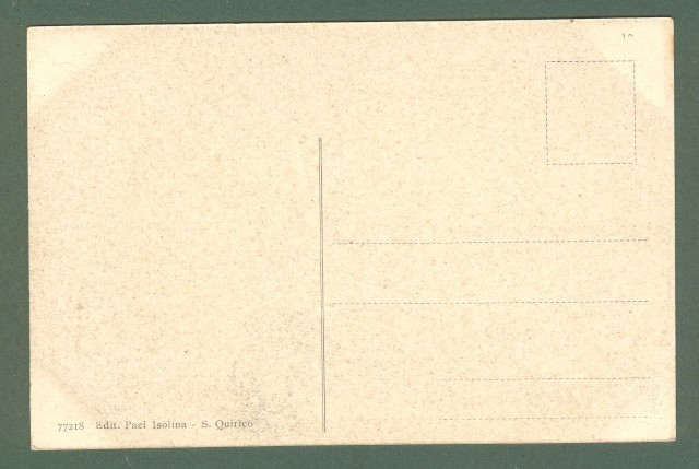 Toscana. S. QUIRICO D'ORCIA, Siena. Panorama. Cartolina d'epoca non viaggiata, circa 1920.