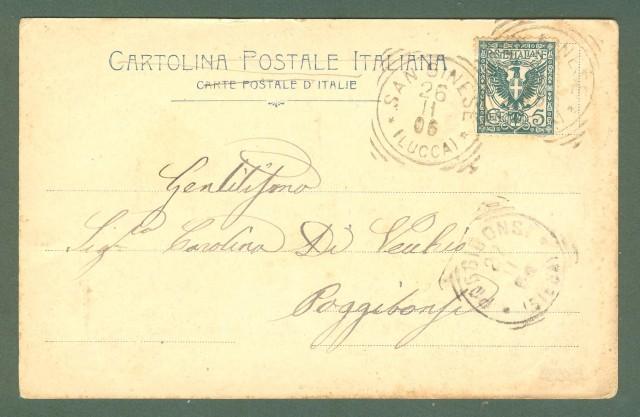 Toscana. LUCCA. Prigione S. Giorgio. Cartolina d'epoca viaggiata nel 1906.