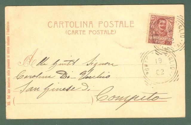Toscana. LUCCA. Fuori Porta Elisa. Cartolina d'epoca viaggiata nel 1902.