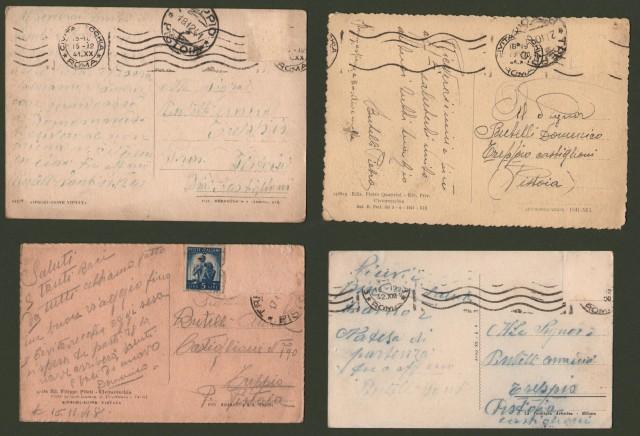 Lazio. CIVITAVECCHIA. 4 cartoline (due formato grande, due formato piccolo). Viaggiate nel 1941 - 1948.