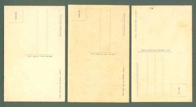 Veneto. FELTRE, Belluno. Tre cartoline d'epoca non viaggiate, circa 1940