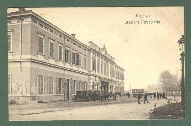 Veneto. VICENZA. Stazione Ferroviaria. Cartolina d'epoca viaggiata nel 1910.