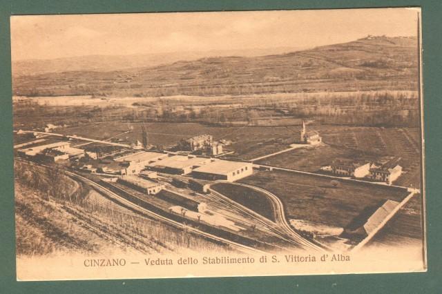 Piemonte. S. VITTORIA D'ALBA, Torino. Veduta dello Stabilimento Cinzano. Cartolina d'epoca non viaggiata, circa 1930