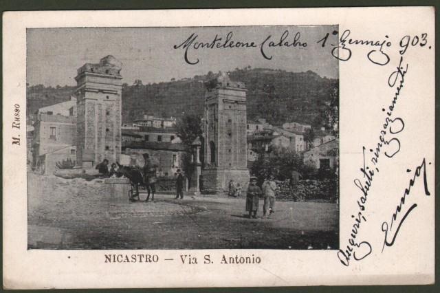 Calabria. NICASTRO, Catanzaro. Via S. Antonio.