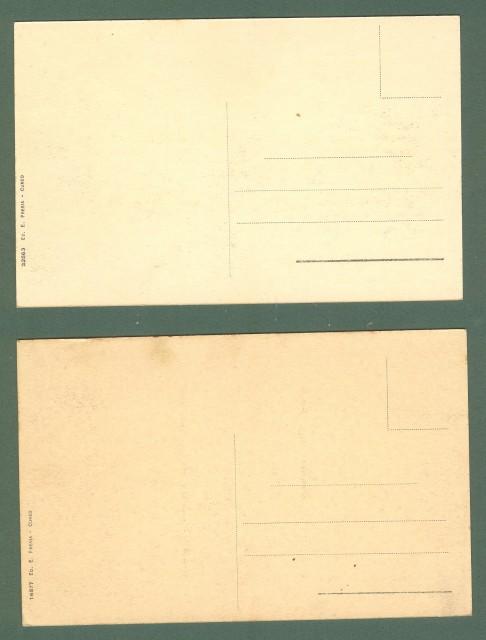 Piemonte. CUNEO. Due cartoline d'epoca non viaggiata, circa 1920.